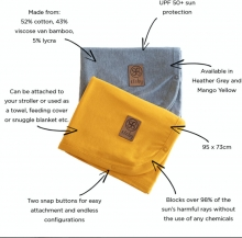 Cloby Multifunctional UV blanket mango