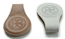 Cloby Magnetic clips brown leather (2 pack)