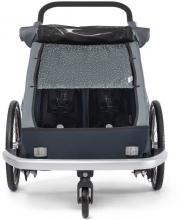 Croozer Sun Cover Kid 2 two-seater graphite blue
