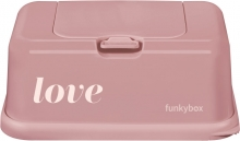 Funkybox for wet wipes vintage pink love