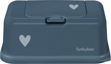 Funkybox for wet wipes petrol little hearts