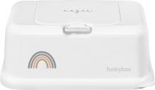 Funkybox Feuchttücherbox weiß Regenbogen