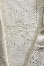 Alvi Knitted blanket stars creme 75x100