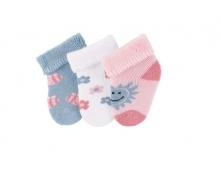 Sterntaler newborn socks bees 3 pack size 13/14
