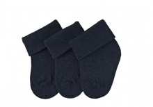 Sterntaler newborn socks navy 3 pack size 13/14