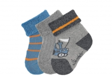 Sterntaler newborn socks tractor 3 pack size 13/14
