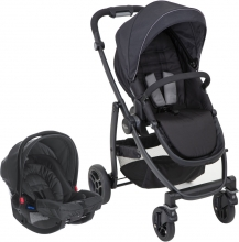 Graco Travelsystem Evo stroller and SnugRide car seat black/grey