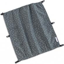Croozer Sun Cover Kid 2 two-seater graphite blue/white