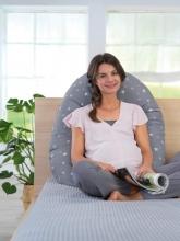 Theraline Nursing pillow Original design 131 Dancing leaves taupe