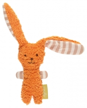 Sigikid Organic cotton Grasp toy bunny orange Green Collection