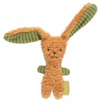 Sigikid Organic cotton Grasp toy bunny light brown Green Collection