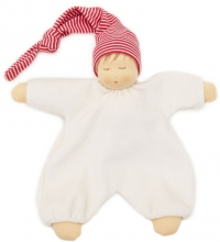 Nanchen Natur Cuddle cloth Sleeping puppet red