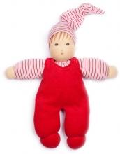 Nanchen Natur Puppet Wuschel red