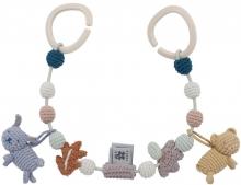 Sebra Crochet pram chain Daydream