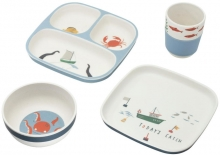 Sebra Bamboo melamine dinner set (4 pcs.) Seven Seas