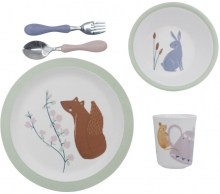 Sebra Melamine dinner set (5 pcs.) Daydream