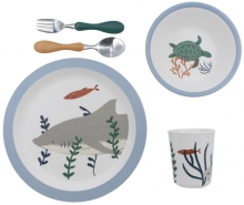 Sebra Melamine dinner set (5 pcs.) Seven Seas