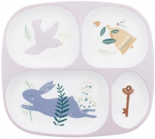 Sebra Melamine plate with 4 rooms Daydreams