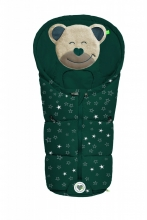 Odenwälder little footmuff Mucki Fashion sparkling stars coll. 20/21 deep forest