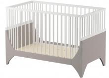 Sebra YoMi Baby bed white earthbrown