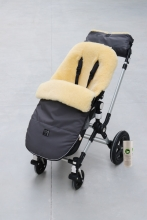 Kaiser Lambskin footmuff and handmuff Bujoo anthracite