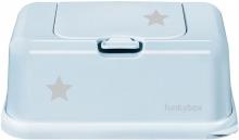 Funkybox for wet wipes light blue Stars shiny