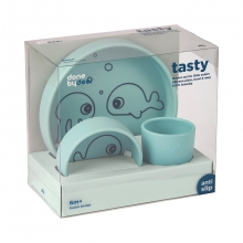 Done by Deer Silicone dinner set Sea Friends blue