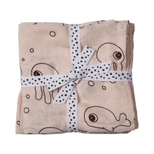 Done by Deer Swaddle 2-pack Sea Friends powder 120 x 120 cm