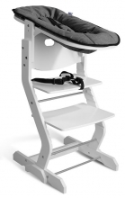 DawOst tiSsi® Baby seat attachment for high chair white anthracite