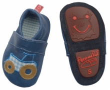 Anna and Paul leather toddler Jungbauer ocean with rubber sole size XL-23