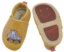 Anna and Paul leather toddler excavator corn with rubber sole size S-18/19