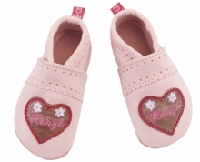 Anna and Paul leather toddler Herzl pink size S-18/19