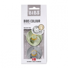 BIBS Pacifier natural rubber Sage/Cloud 0-6m