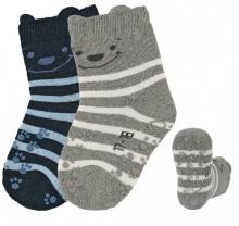 Sterntaler ABS crawling socks Bear navy blue 17/18 double pack