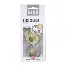 BIBS Pacifier natural rubber Sage/Cloud 6-18m