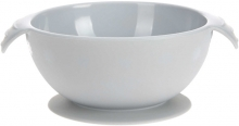 Lässig Silicone bowl with suction pad grey