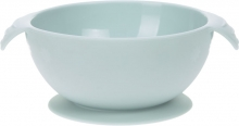 Lässig Silicone bowl with suction pad blue