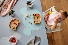 Lässig Bamboo childrens plate with suction pad Little Chums Mouse