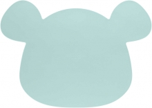 Lässig Placemat Silicone Little Chums Mouse blue
