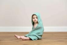 Lässig Muslin hooded towel mint
