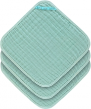 Lässig Muslin washcloth 3pcs. mint