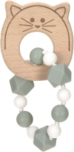 Lässig Wooden teether with bracelet Little Chums Cat