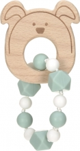 Lässig Wooden teether with bracelet Little Chums Dog