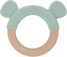 Lässig Wooden ring with silicone Little Chums Dog
