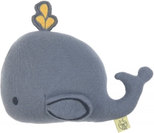 Lässig Knitted toy with rattle Little Water Whale