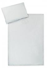 Zöllner Bettwäsche mit Applikation Organic uni sand 100x135 cm