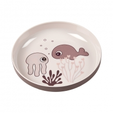 Done by Deer Yummy mini plate Sea Friends powder