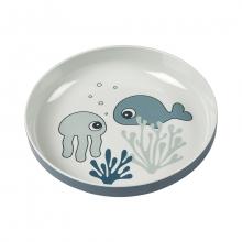 Done by Deer Yummy mini plate Sea Friends blue