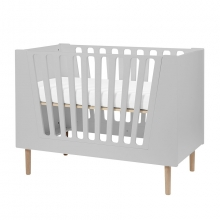Done by Deer Baby cot 70 x 140 cm grey