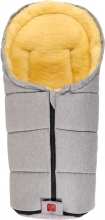 Kaiser Channy lambskin baby carrier footmuff light grey melange